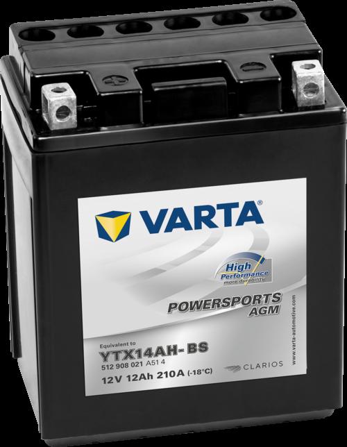 VARTA AGM MC Batteri 12V 14AH 210CCA (150x87x161mm) +høyre